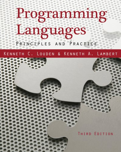Programming Languages Principles and Practices 3rd 2012 edition cover