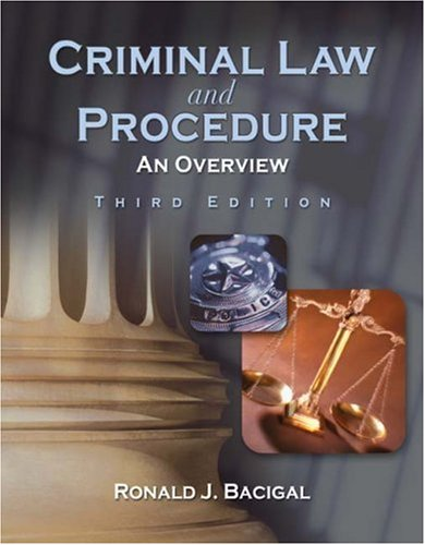 Criminal Law and Procedure An Overview 3rd 2009 edition cover