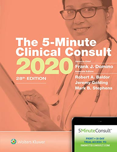 5-Minute Clinical Consult 2020  28th (Revised) 9781975136413 Front Cover