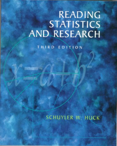 Reading Statistics and Research  3rd 2000 edition cover