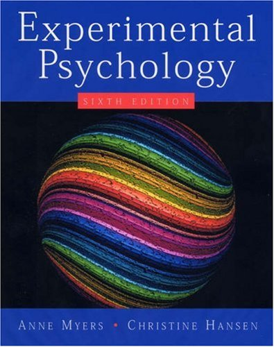 Experimental Psychology  6th 2006 9780534634414 Front Cover