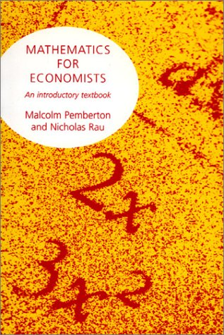 Mathematics for Economists   1998 edition cover