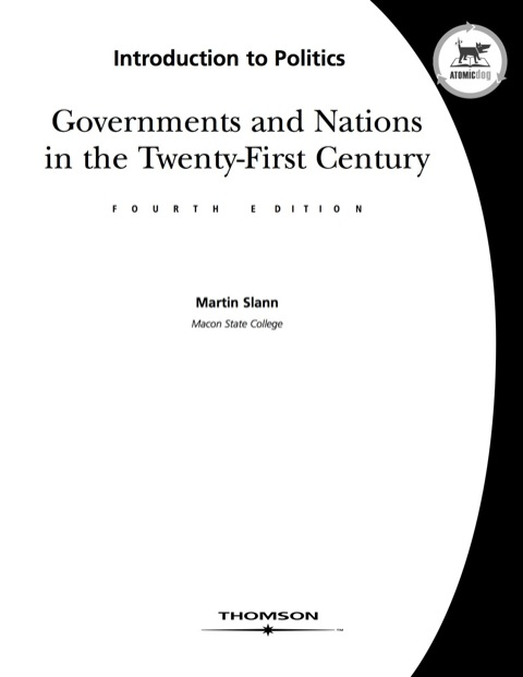 Introduction to Politics : Governments and Nations in the 21st Century 4th 2007 9780759394414 Front Cover
