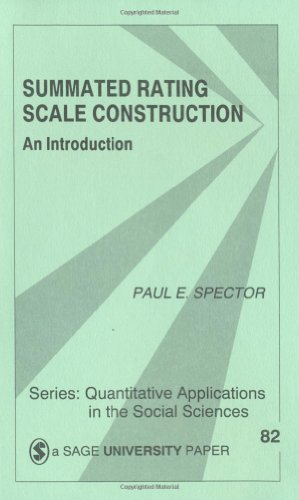 Summated Rating Scale Construction An Introduction  1991 edition cover