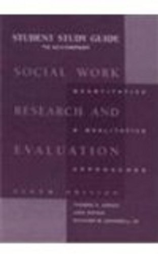 Social Work Research and Evaluation  6th 2000 (Guide (Pupil's)) 9780875814414 Front Cover