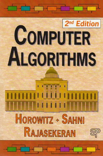 Computer Algorithms 2nd 2008 edition cover