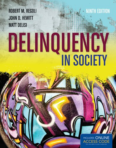 Delinquency in Society: 9th 2013 edition cover