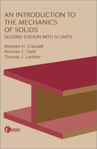 Introduction to the Mechanics of Solids  2nd 1999 edition cover