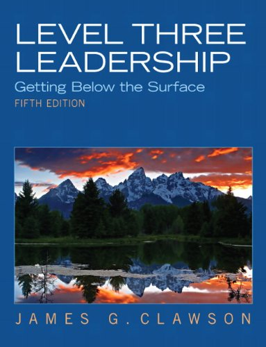 Level Three Leadership Getting below the Surface 5th 2012 (Revised) edition cover