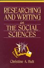 Researching and Writing in the Social Sciences  1st 1996 edition cover