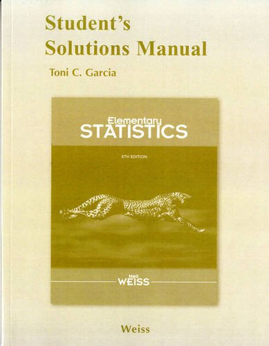 Student Solutions Manual for Elementary Statistics  8th 2012 edition cover
