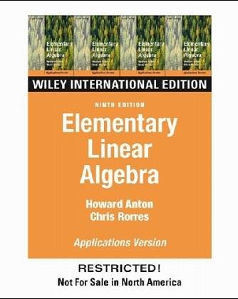 Elementary Linear Algebra  7th 1994 edition cover