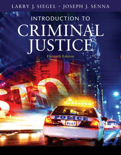 Introduction to Criminal Justice  11th 2008 (Revised) edition cover
