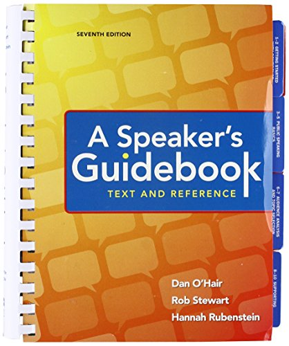 A Speaker's Guidebook: Text and Reference  2017 9781319059415 Front Cover
