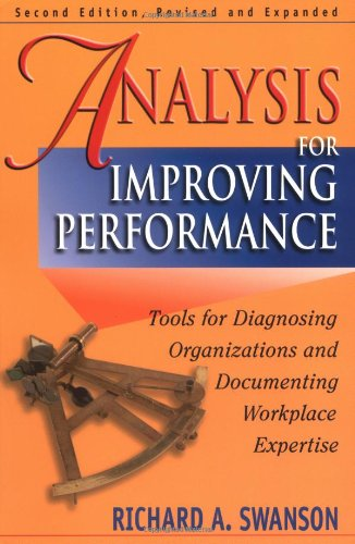 Analysis for Improving Performance Tools for Diagnosing Organizations and Documenting Workplace Expertise 2nd 2007 (Revised) edition cover