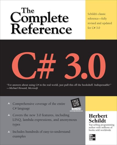 C# 3. 0 the Complete Reference 3/e  3rd 2009 9780071588416 Front Cover