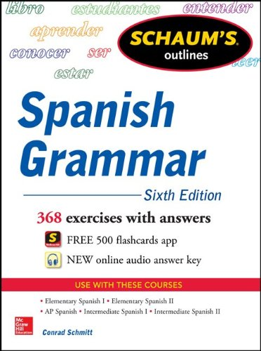 Spanish Grammar 368 Exceecises with Answers 6th 2014 edition cover