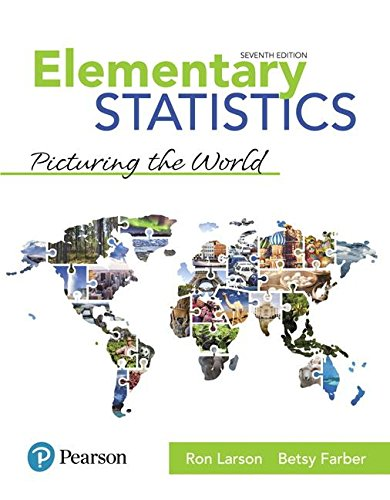 Elementary Statistics: Picturing the World  2018 9780134683416 Front Cover