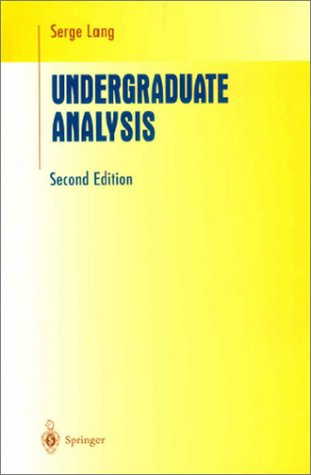 Undergraduate Analysis  2nd 1997 (Revised) edition cover