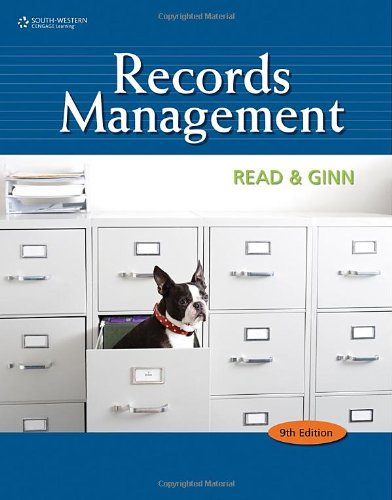 Records Management  9th 2011 9780538731416 Front Cover