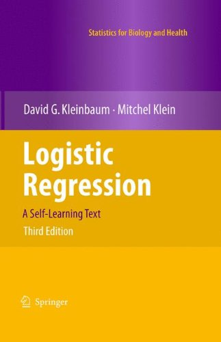 Logistic Regression A Self-Learning Text 3rd 2010 edition cover