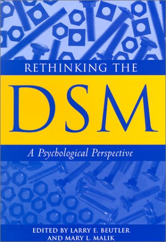 Rethinking the DSM A Psychological Perspective  2002 edition cover