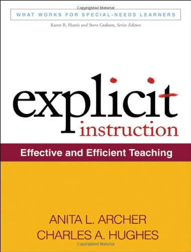 Explicit Instruction Effective and Efficient Teaching  2011 edition cover