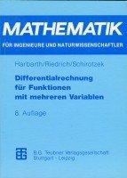 Differentialrechnung Für Funktionen Mit Mehreren Variablen:   1993 9783815420416 Front Cover