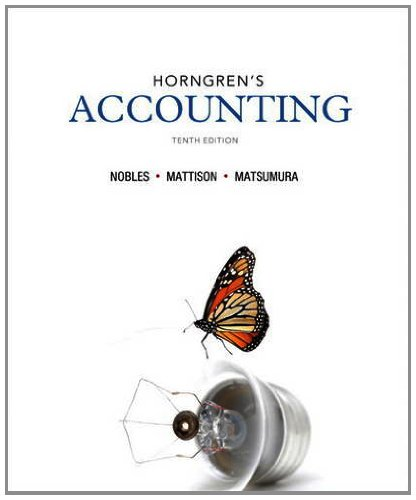 Horngren's Accounting  10th 2014 9780133117417 Front Cover
