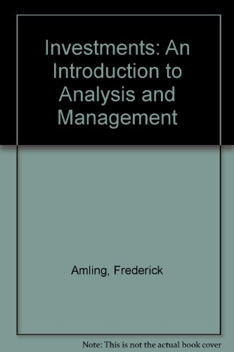 Investments : An Introduction to Analysis and Management 6th 9780135043417 Front Cover