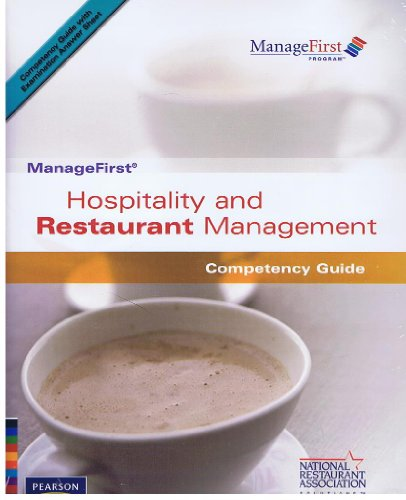 ManageFirst Hospitality and Restaurant Management with Pencil/Paper Exam and Test Prep  2007 9780135072417 Front Cover
