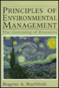 Principles of Environmental Management The Greening of Business  1993 edition cover