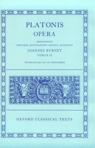 Platonis Opera  2nd (Revised) edition cover