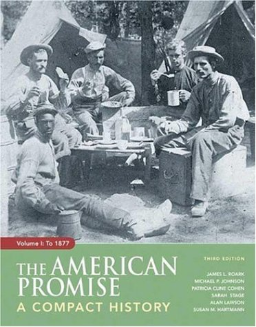 American Promise Vol. 1 : A Compact History to 1877 3rd 2007 edition cover