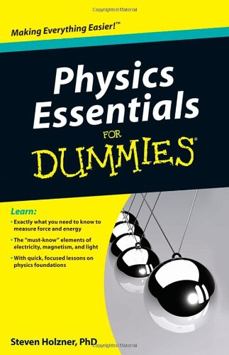 Physics Essentials for Dummies   2010 edition cover