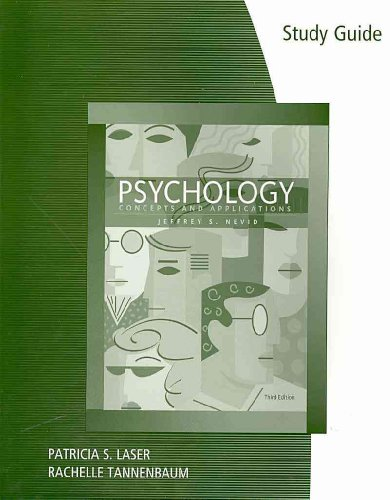 Study Guide for Nevid's Psychology: Concepts and Applications, 3rd  3rd 2009 9780547149417 Front Cover