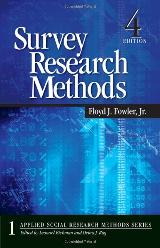 Survey Research Methods  4th 2009 edition cover