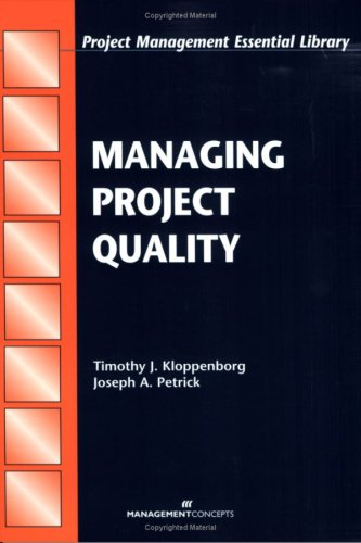 Managing Project Quality   2002 9781567261417 Front Cover