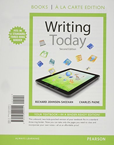 Writing Today, Brief Edition, Books a la Carte Plus MyWritingLab with EText -- Access Card Package  2nd 2013 9780133884418 Front Cover
