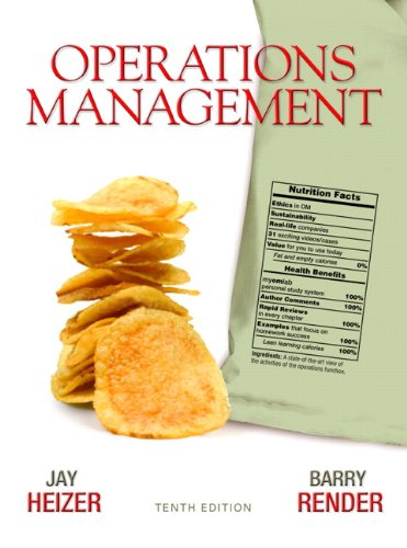 Operations Management  10th 2011 edition cover