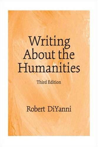 Writing about the Humanities  3rd 2008 edition cover