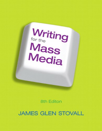 Writing for the Mass Media  8th 2012 edition cover