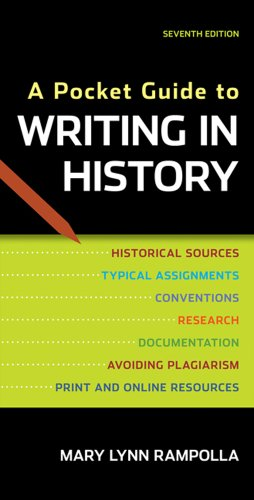 Pocket Guide to Writing in History  7th 2012 9780312610418 Front Cover