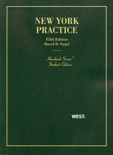 New York Practice  5th 2011 (Revised) edition cover