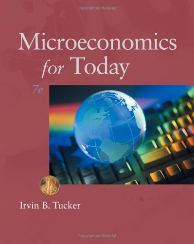 Microeconomics for Today  7th 2011 9780538469418 Front Cover