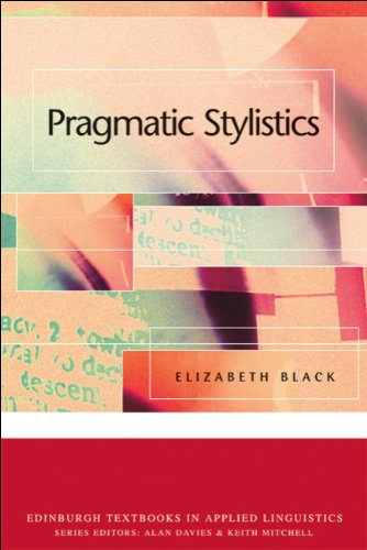Pragmatic Stylistics   2006 9780748620418 Front Cover