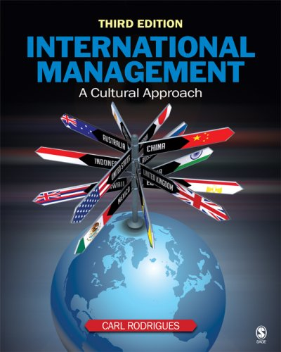 International Management A Cultural Approach 3rd 2009 edition cover