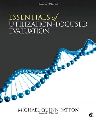 Essentials of Utilization-Focused Evaluation   2012 edition cover