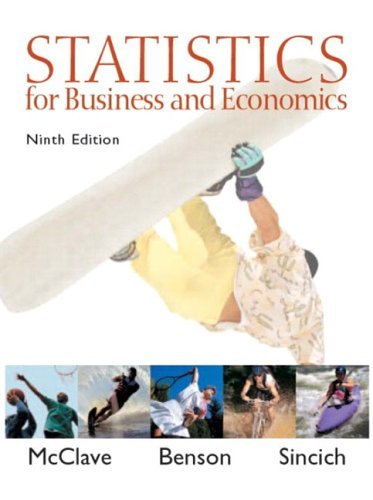 Statistics for Business and Economics  9th 2005 (Revised) edition cover