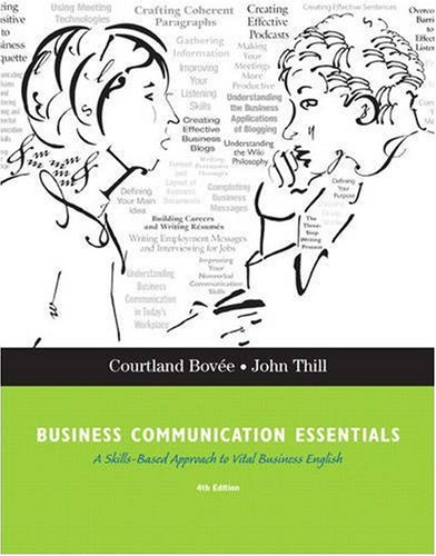 Business Communication Essentials  4th 2010 edition cover